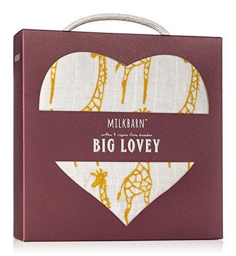 "Milkbarn Bamboo and Cotton Big Lovey ""Yellow Giraffe"