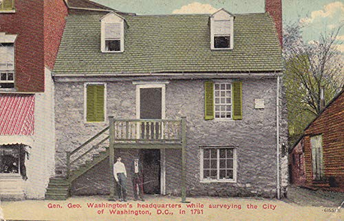 119VINT02 GEN. GEO. WASHINGTON'S HEADQUARTERS WHILE SURVEYING THE CITY OF WASHINGTON, D.C, IN 1791 SOUVENIR VINTAGE ANTIQUE COLLECTIBLE POSTCARD from HIBISCUS EXPRESS
