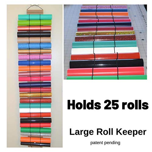 Craft vinyl holder – vinyl roll storage holds 25 rolls of vinyl – adhesive vinyl – by The Roll Keeper from The Roll Keeper