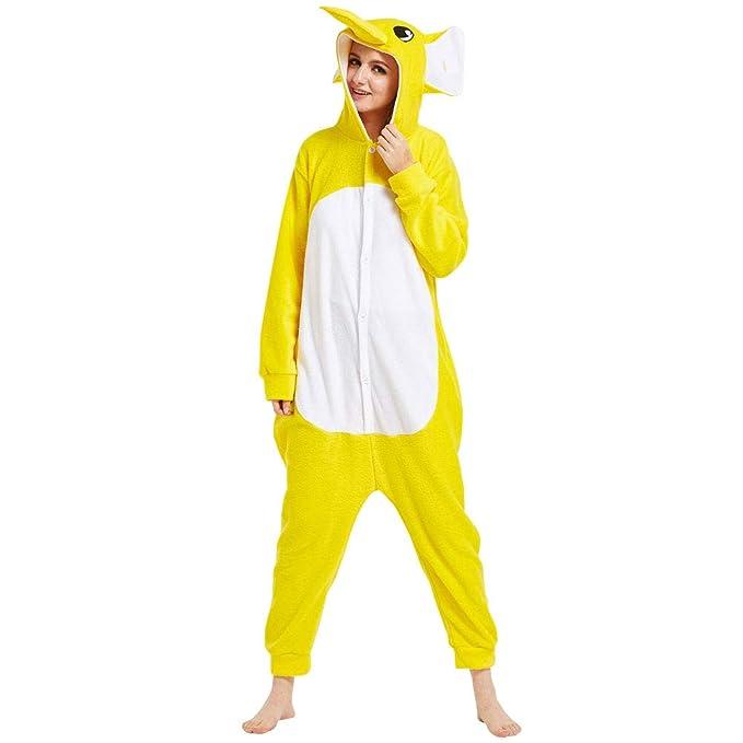 LPATTERN Pijama Animal Entero de Franela para Hombre/Mujer ...