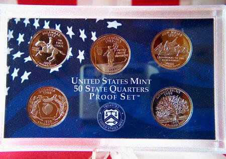 1 S 1999 thru 2009 All 56 Proof State & Territory Quarters Complete Set With Boxes and COA Proof