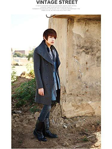 Long Coat Jacket Winter Overcoat Windbreaker Men Jacket Grau Men Winter Mens Winter Long Elegant Apparel Men's Huixin Parka Section 4qTvHxn75x