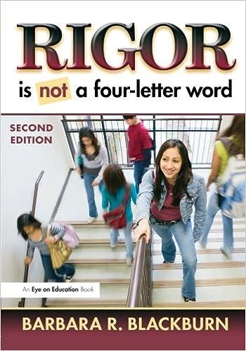 rigor is not a four letter word barbara r blackburn 9781596672260 amazoncom books