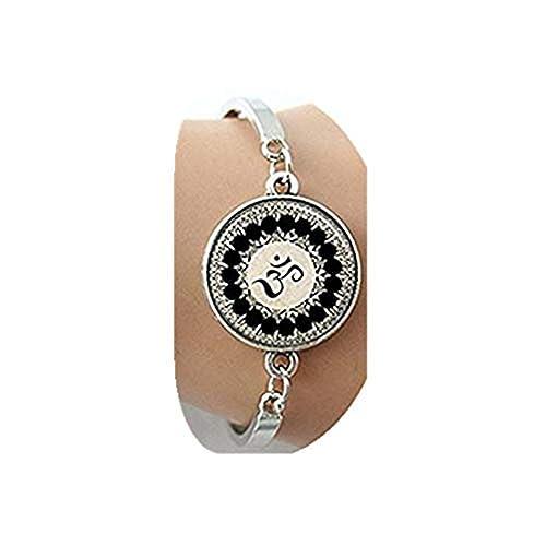 Campana de cristal joyas pulsera Om Yoga Om símbolo, Budismo ...