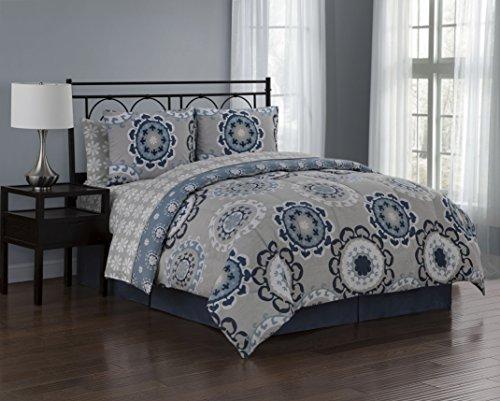 Avondale Manor Elsa 8-Piece Comforter Set, Queen, Blue Manor Homes Set