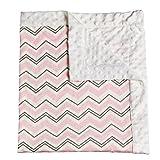 Pink Everyday Chevron Patterned Minky Dot Blanket