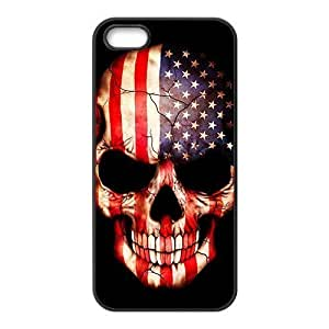 American US.Flag skull Phone Case for iphone 4s(TPU)