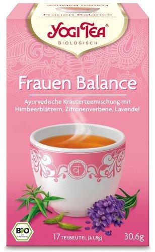 Yogi Tee, Frauenbalance-Tee, 4er SPARPACK , Biotee, milde Mittelmeerleichte Teemischung, Biotee, je 17 Teebeutel a 30,6g