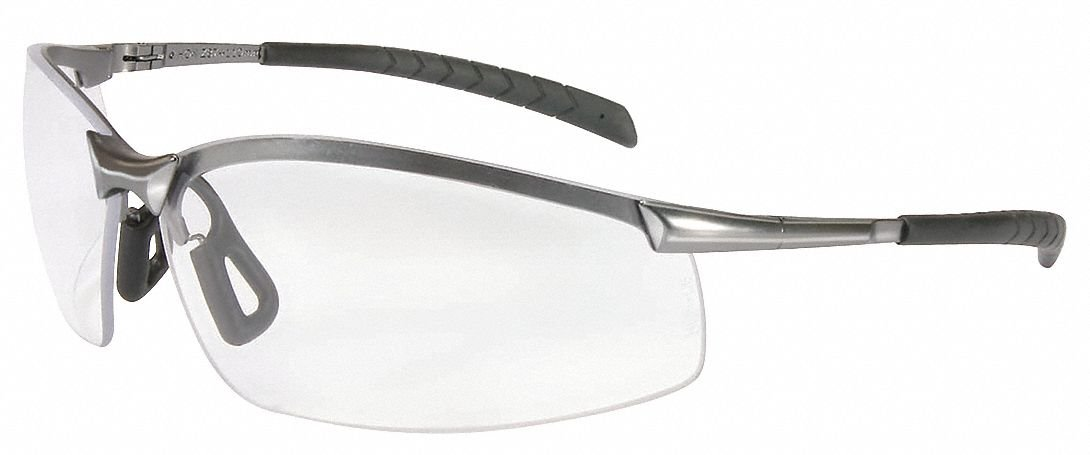 Honeywell Clear Safety Glasses, Scratch-Resistant, Half-Frame