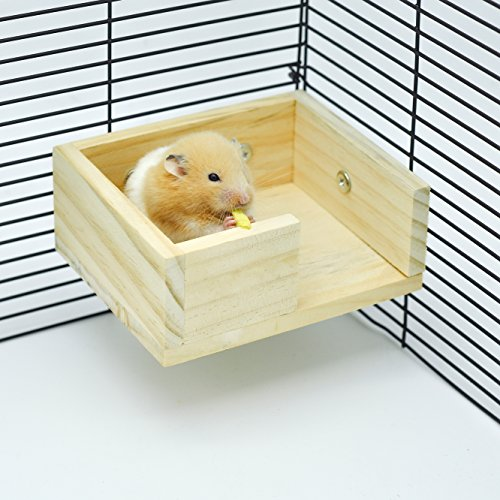 Pictures of Niteangel Wooden Hamster Mouse Small Animals Lookout 1