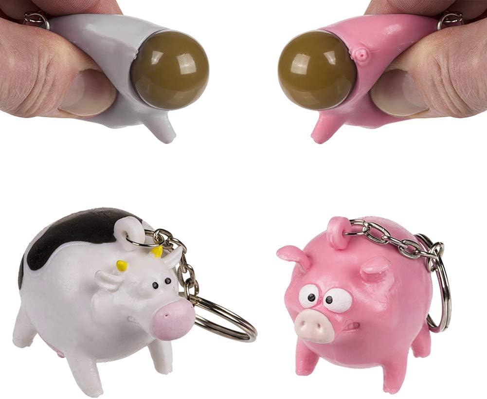 Cow Vache ou Cochon Vendu /à lunit/é Pig Poop Animal OOTB Porte cl/és Animal Qui Fait Caca