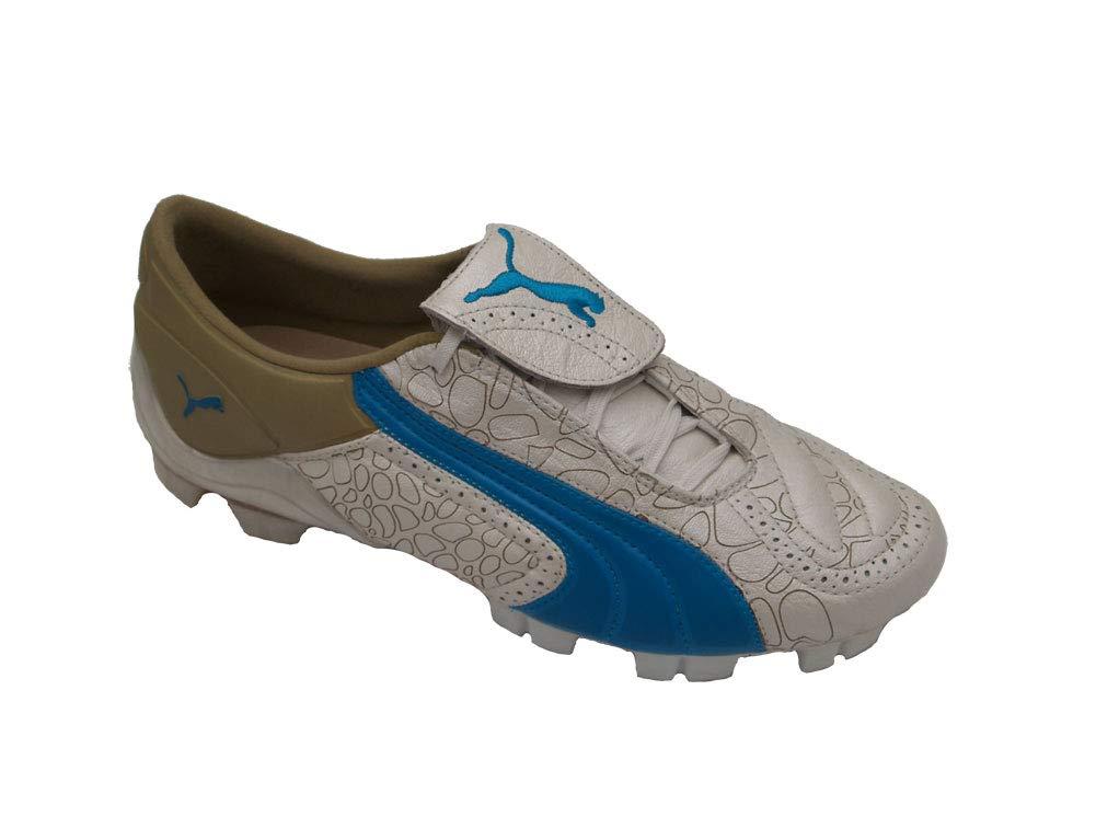 Puma v-Konstrukt II GCi FG Damens, Weiß Vivid Blau Team Gold, Gr. 38,5(UK5,5)