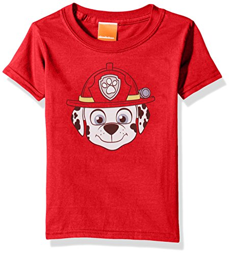 Paw Patrol Kids' Toddler Marshall Big Face Tee, red, 2T