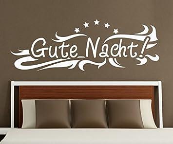 Amazon.de: Wandtattoo Gute Nacht Stern Spruch Aufkleber Schlafzimmer ...