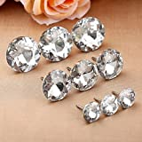 Mgoodoo 100pcs 16mm Sew Buttons Diamond Crystal