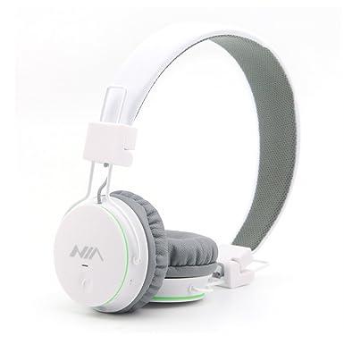 Bluetooth de diadema, propulsado X2 inalámbrico plegable auriculares estéreo de alta fidelidad con micrófono integrado