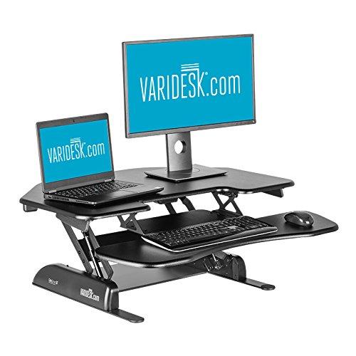 Height-Adjustable Standing Desk for Cubicles - VARIDESK Cube Corner 36