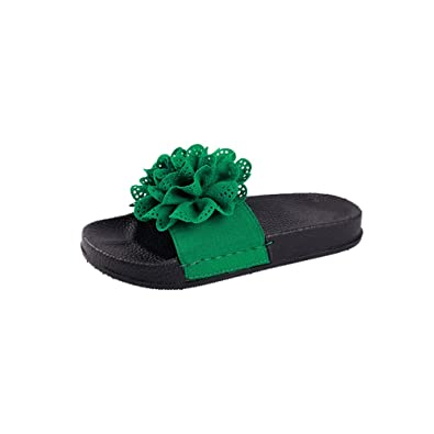 361910d56d4 JYC 2018 Women Slippers High Thick Heel, Flower Summer Sandals, Flip Flop  Sandals, Beach Shoes, Slide Open-Toe Sandals, Low Wedge Summer Sandals
