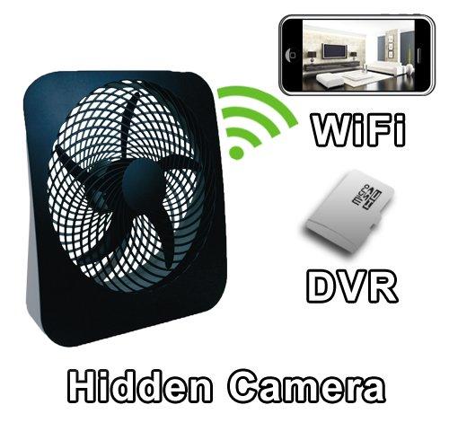 PalmVID WiFi Fan Hidden Camera Spy Camera with Live Video Viewing