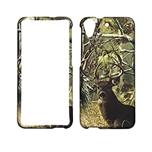 2D Camo Tail Deer Pine For HTC Desire 626 626s Case Cover Hard Phone Case Snap on Shield Protector Rubberized Touch Faceplate Cover
