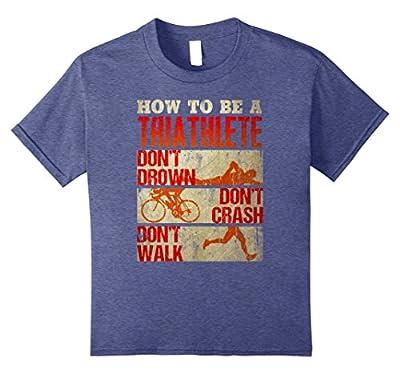 "Premium ""HOW TO BE A TRIATHLETE"" Funny Triathlon T-shirt"