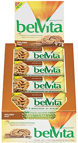 belVita Golden Oat Breakfast Biscuits (8 Count Box, 14.08 oz)