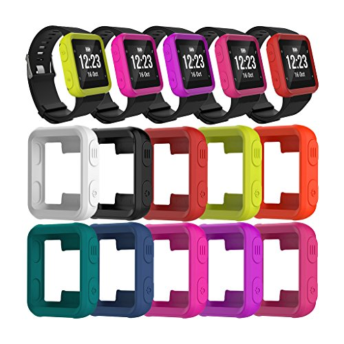 BKID Silicone Watch Case Cover for Garmin Forerunner 35/Approach S20 Sport Watch, Shock-proof and Shatter-resistant Smart Watch Protector (Hot Pink)