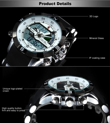 Military Watches For Men Chronograph Sport Wrist Watch Day & Date, Easy To Read