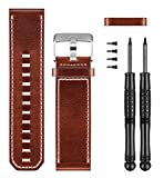 Garmin Premium Leather Watch Replacement Band for D2 Bravo