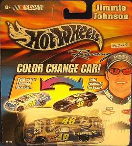Jimmie Johnson #48 Lowes Monte Carlo Color Changer Car Hotwheels 1/64 Scale Diecast Cold Temperature To Warm Temperature Changes Color Yellow Rookie Stripes!