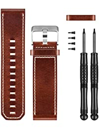 Premium Leather Watch Replacement Band for D2 Bravo