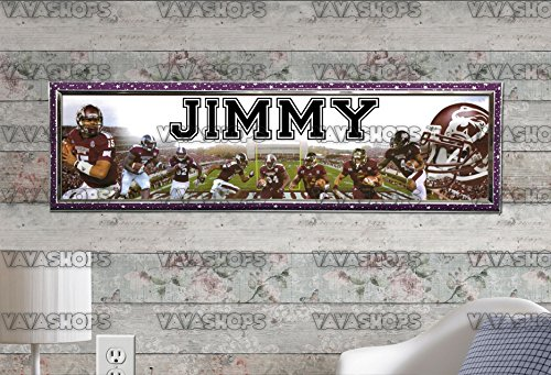 (Customized Name Painting Mississippi State Bulldogs Poster With Your Name On It Personalized Banner With Hard Frame )