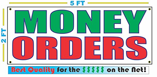 MONEY ORDERS All Weather Full Color Banner Sign by SuperSigns