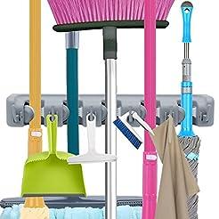 Mop Broom Holder, Garden Tools Wall Moun...