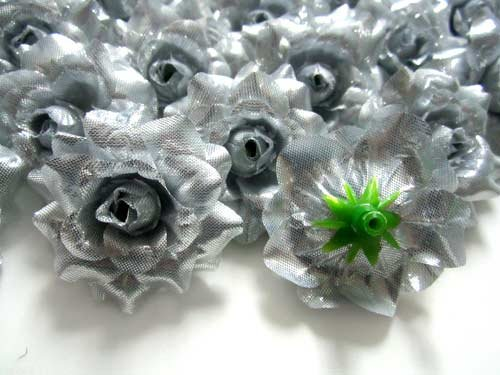 100-Silk-Silver-Roses-Flower-Head-175-Artificial-Flowers-Heads-Fabric-Floral-Supplies-Wholesale-Lot-for-Wedding-Flowers-Accessories-Make-Bridal-Hair-Clips-Headbands-Dress