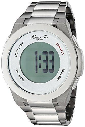 Kenneth Cole New York Unisex 10023868 KC Connect- Technology Digital Display Japanese Quartz Black Watch