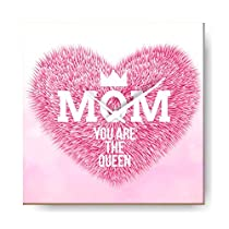 YaYa cafe Mothers Day Gifts Mom You are The Queen Wall Cloc