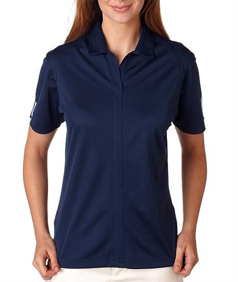 adidas Golf A78 Climalite - Polo de 3 Rayas para Mujer, Talla XL ...