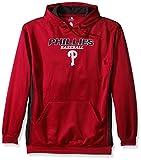 MLB Philadelphia Phillies Men's Fleece Hood, 4X, Red  / StormGrey