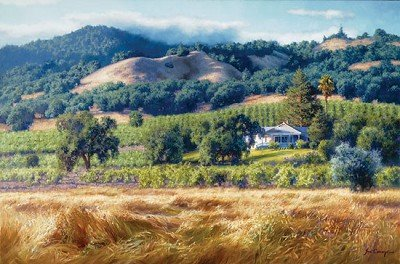 June Carey Alexander Valley Winery Canvas