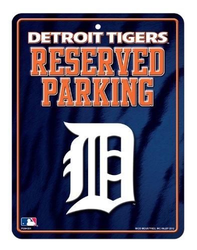 MLB Detroit Tigers High-Res Metal Parking Sign