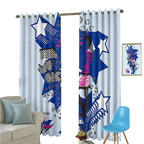 YSING Rod Curtain,Text Chinese Characters,for Room Darkening Panels for Living Room, Bedroom,W96 x L96 Inch (Barclay Finishing Rods)