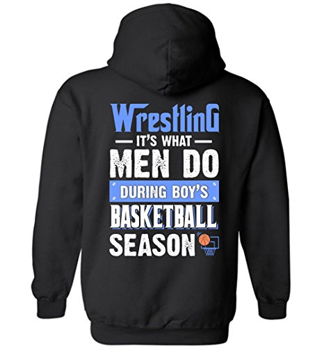 eden tee Men Do Wrestling During Boys Basketball Season Hoodie by eden tee