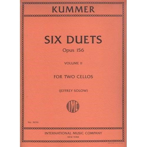 Kummer, F.A. - Six Duets, Op. 156, Volume 2 - Two Cellos - edited by Walter Schulz - International