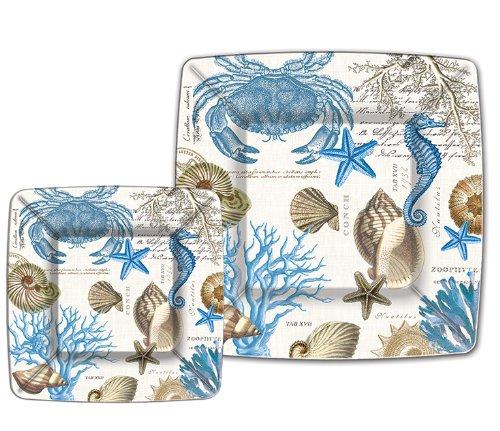 Blossom Plate Time Dinner (Michel Design Works Seashore 8 Count Dinner Paper Plates)