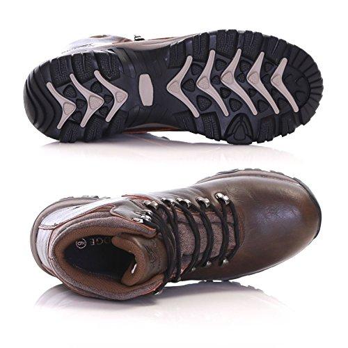Slimbridge Cribyn 46 botas de agua de senderismo de los hombres, Marrón