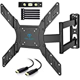 """PERLESMITH TV Wall Mount for 23""""- 55"""" TVs with Swivel & Extends 19.5"""" - Wall Mount TV Bracket VESA 400x400 fits LED, LCD, OLED Flat Screen TVs up to 99 lbs - with HDMI Cable, Bubble Level & Cable Ties"""