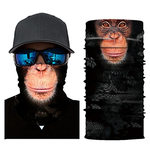 (UMFun 3D Animals Cycling Face Mask Motorcycle Head Scarf Neck Warmer Ski Balaclava Headband 25x50cm (G))