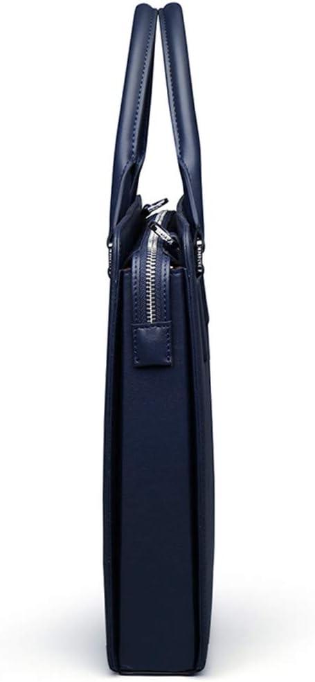 Mens Briefcase Genuine Leather Totes Documents Leather Shoulder Bag Cow Skin Business Messenger Bag Black