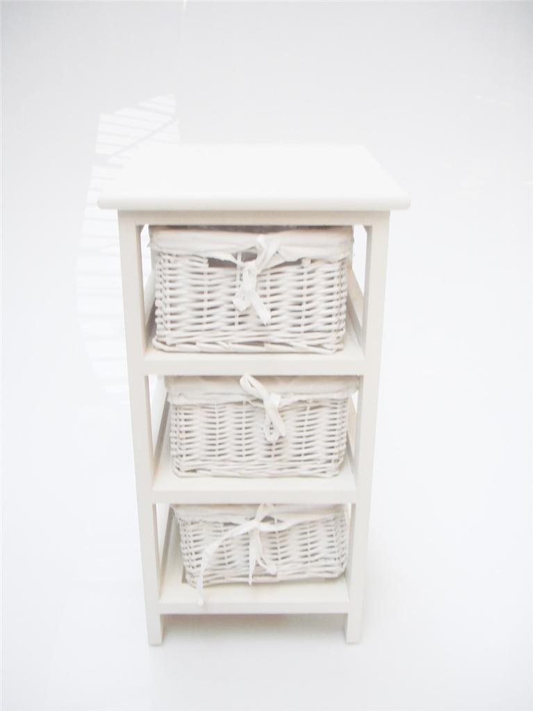WHITE SLIM NARROW BEDSIDE CABINET 3 CHEST OF DRAWS DRAWER BATHROOM STORAGE  UNIT KIDS BEDSIDE TABLE WHITE LINING: Amazon.co.uk: Kitchen & Home